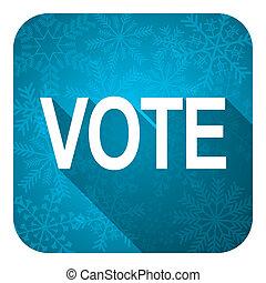 vote flat icon, christmas button