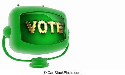 vote -  on loop alpha mated tv