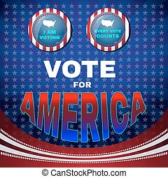Vote for America I Am Voting Banner