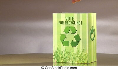 Vote for recycle, with title.