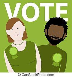 vote green political candidates