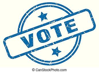 vote grunge stamp