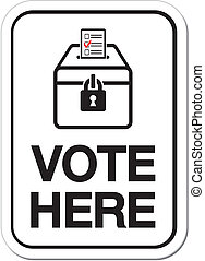 vote here signs - suitable for vote signs