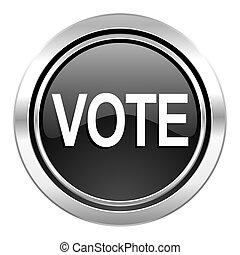 vote icon, black chrome button