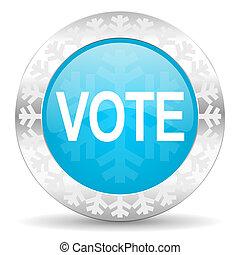 vote icon, christmas button