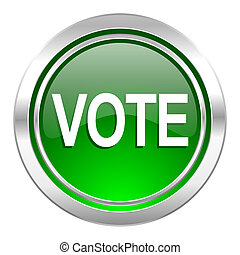 vote icon, green button