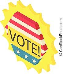 Vote icon, isometric 3d style