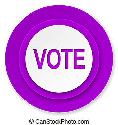 vote icon, violet button