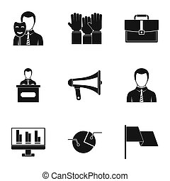 Vote icons set, simple style - Vote icons set. Simple style...