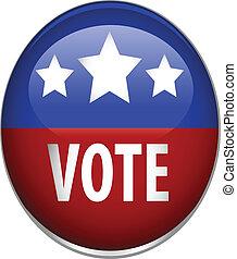 vote, image, vecteur, bouton
