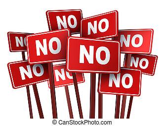 Vote No Campaign - Vote no campaign and protest signs for a...