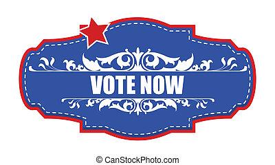 Vote Now - Decorative Banner