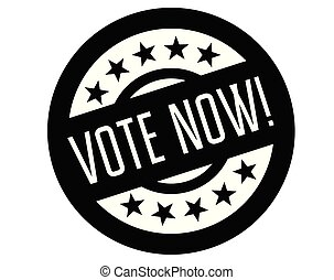 vote now stamp on white