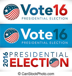 Vote or Voting Campaign Election Pin Button or Badge.