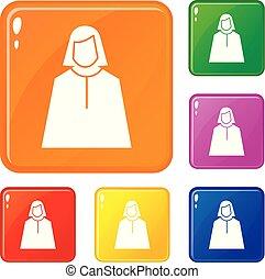 Vote oratory icons set vector color
