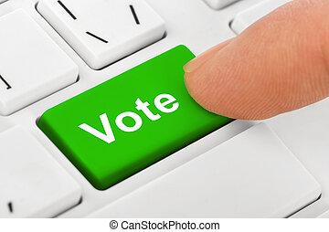 vote, ordinateur cahier, clã©, clavier