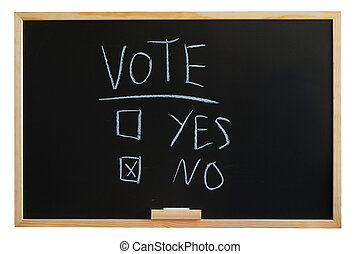 vote, oui, ou, non