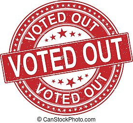 vote out. stamp. black round grunge vintage vote sign