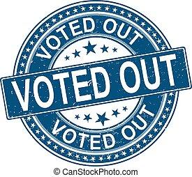 vote out. stamp. blue round grunge vintage vote sign