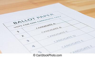 vote, papier, vote