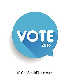 vote, parole, vecteur, bulle, étiquette