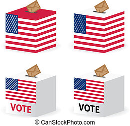 vote poll ballot box for united states