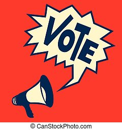 Vote Poster Vector illustration.