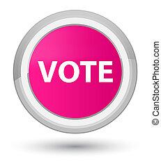 Vote prime pink round button