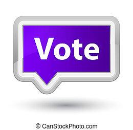 Vote prime purple banner button