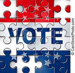 vote, problèmes, démocratie