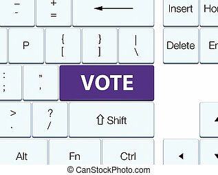 Vote purple keyboard button