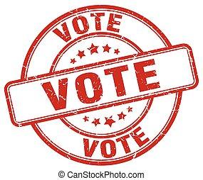 vote red grunge round vintage rubber stamp