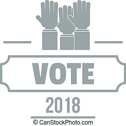 Vote registration logo. Simple illustration of vote registration vector logo for web
