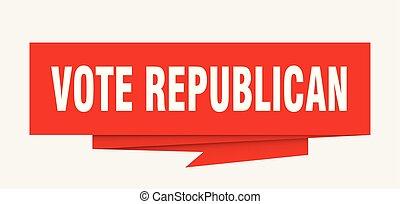 vote republican sign. vote republican paper origami speech...
