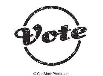 vote sign. vote round vintage grunge stamp. vote