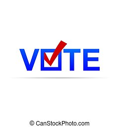 Vote sign with check mark