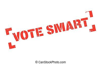 Vote Smart rubber stamp. Grunge design with dust scratches....
