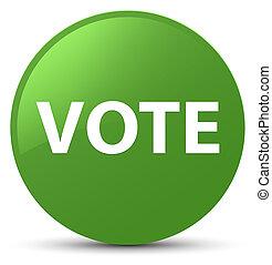 Vote soft green round button