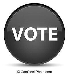 Vote special black round button