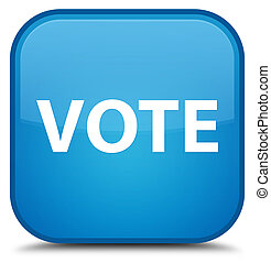 Vote special cyan blue square button
