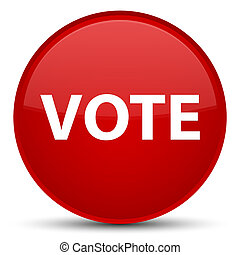 Vote special red round button