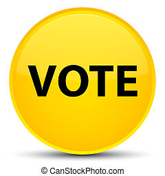 Vote special yellow round button