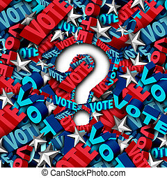 Vote election question as a symbol for an American...