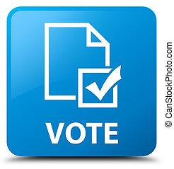 Vote (survey icon) cyan blue square button