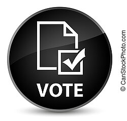 Vote (survey icon) elegant black round button