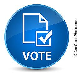 Vote (survey icon) elegant blue round button