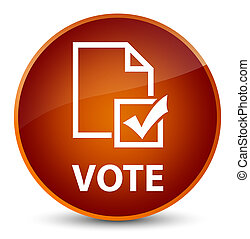 Vote (survey icon) elegant brown round button