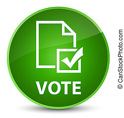 Vote (survey icon) elegant green round button