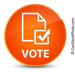 Vote (survey icon) elegant orange round button