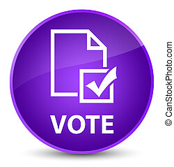 Vote (survey icon) elegant purple round button